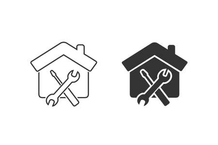 Maintenance house icon set - From property, commercial house and real estate icons, mortgage icons Illusztráció