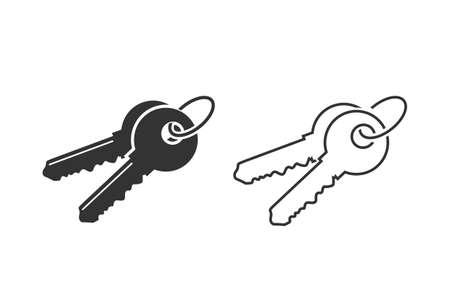 Key line icon set template illustration Illusztráció