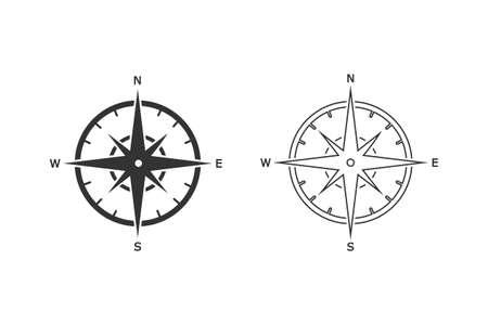 Compass line icon set Template icon illustration design