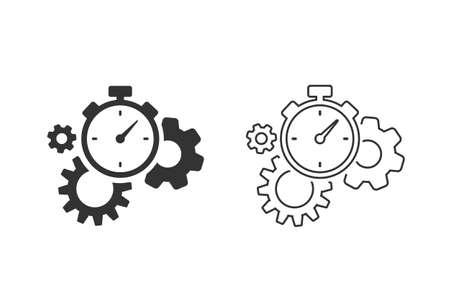 Productivity Line Icon Set on white.