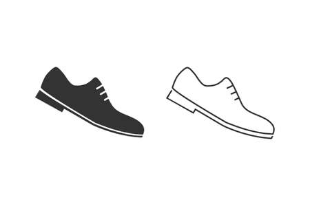 Formal Shoes Line Icon. Man Footwear Illustration As A Simple Vector