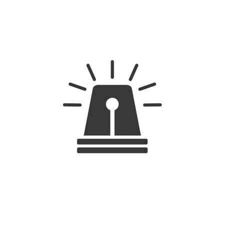 Siren icon. Emergency light icon vector illustration Stock Illustratie