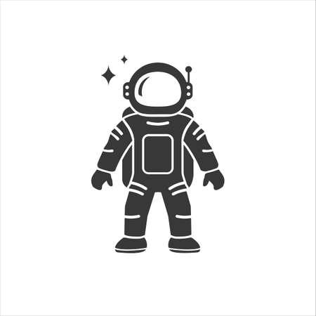 Astronaut in modern flat style Icon Vector illustration