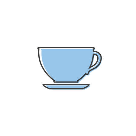 Cup of coffee. Coffee cup icon. Coffee icon isolated white background