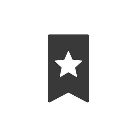 Favorite icon with outline style design flat