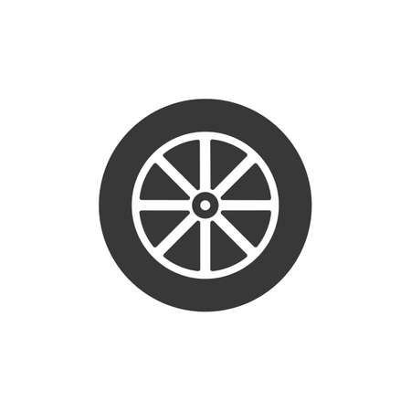 Car wheel icon. Car wheel isolated. Vector illustration