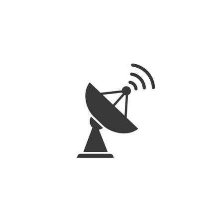 Satellite vector icon, wireless satellite icon in flet