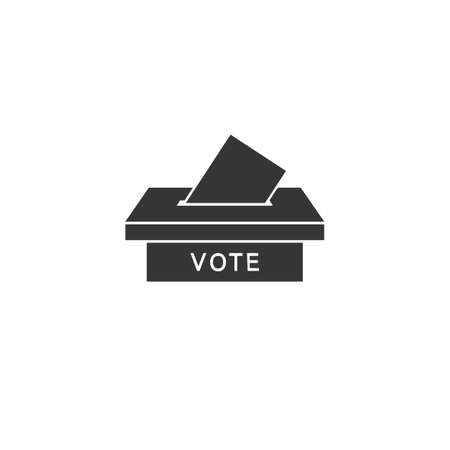 Election box icon. Minimal thin line design. Vector outline icons