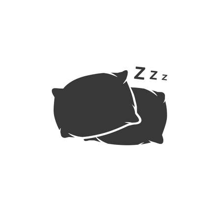 Pillow icon vector logo template in modern flat