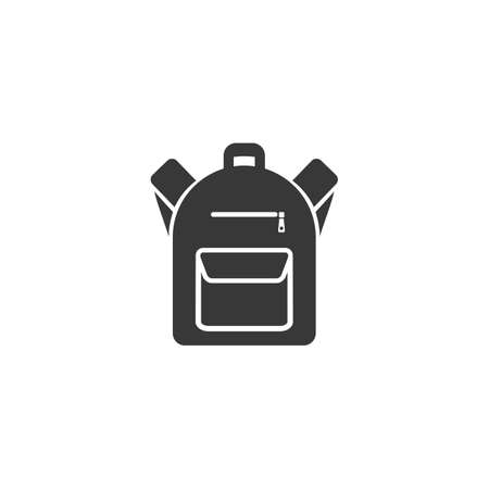 Backpack icon in flat style. Vector in modern flat Ilustração