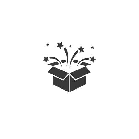 Vector party box icon in flat style