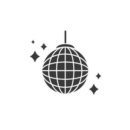 Vector party ball icon in flat style