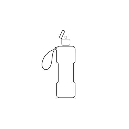 Sports water bottle line icon vector in flat