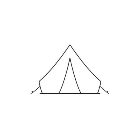Tent black sign line icon. Vector illustration