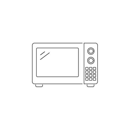 Microwave line icon simple silhouette flat style vector illustration on white background