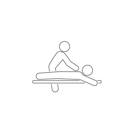 Massage line icon spa vector flat