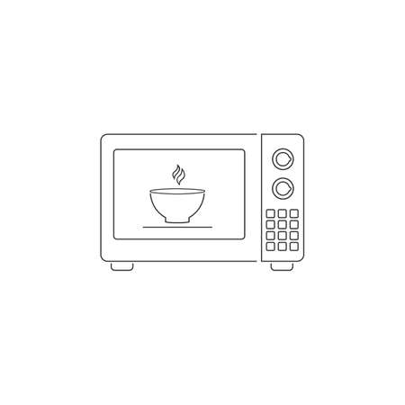 Microwave oven line icon isolated on white background. Home appliances icon.Vector Illustration Ilustração