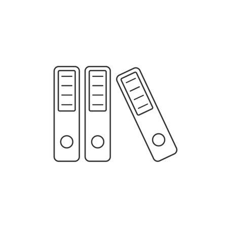 Binders vector line icon on flat Ilustração