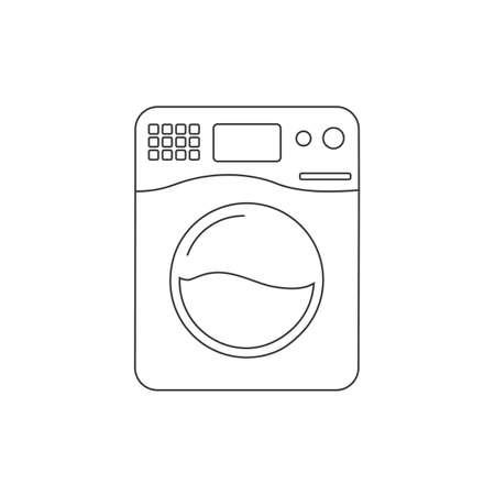 Washer vector line icon. Washer flat sign design. Wash machine symbol