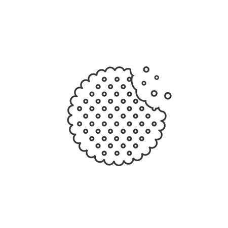 Vector biscuit line icon. Food icon