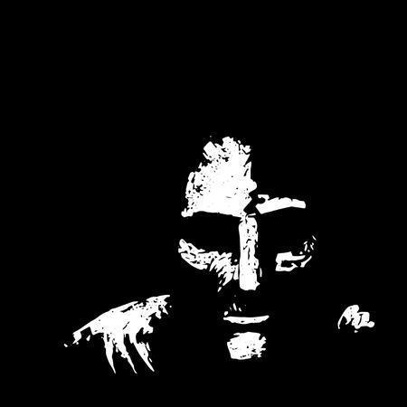 Old Man in Shadows Illusztráció
