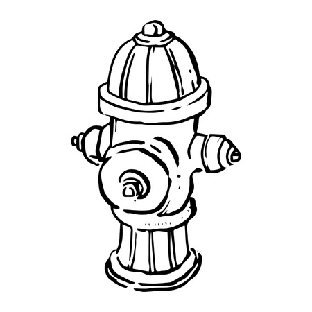 extinguish: Fire Hydrant Line Drawing