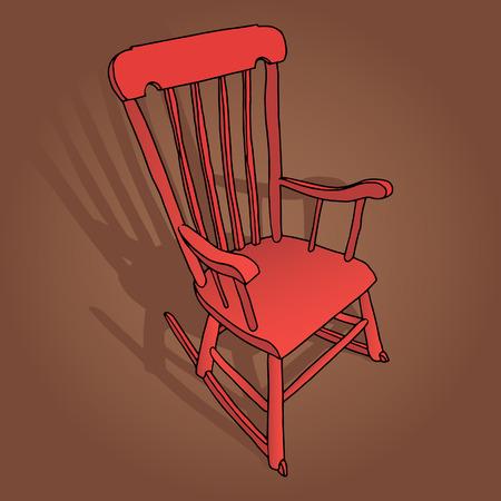 puppenhaus: Little Red Rocking Chair Illustration