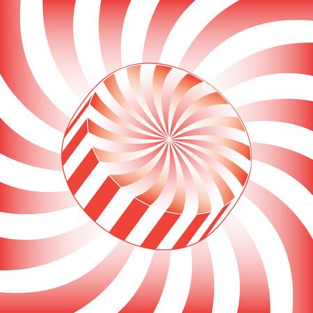 hard: White Stripe Hard Candy Illustration