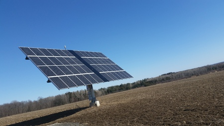 Farm Solar Panel Dish in the Country