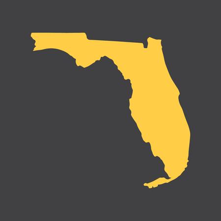 Florida State frontière, carte. Vecteurs