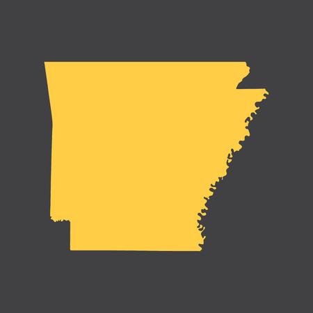 Arkansas state border, map.