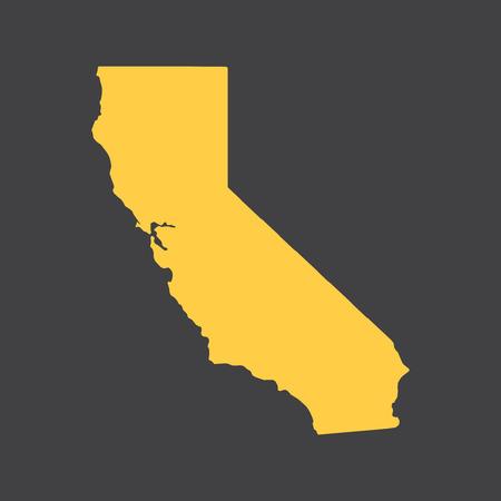 California state border, map.
