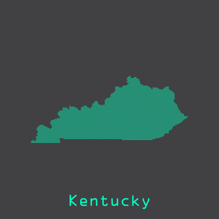 louisville: Kentucky abstract dots state map. Dotted style.