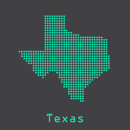 Texas abstract dots map. Dotted style