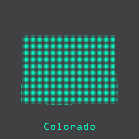 Colorado abstract dots state map. Dotted style.