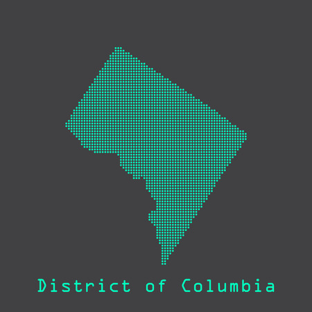 district of columbia: Washington District of Columbia abstract dots state map. Dotted style.
