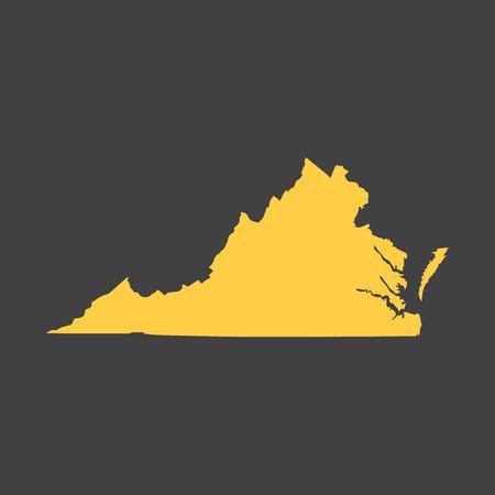 Virginia border, map.