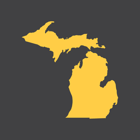 detroit: Michigan border, map.