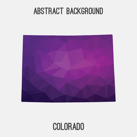 fort collins: Colorado map in geometric polygonal, mosaic style.Abstract tessellation, modern design background, low poly. illustration.