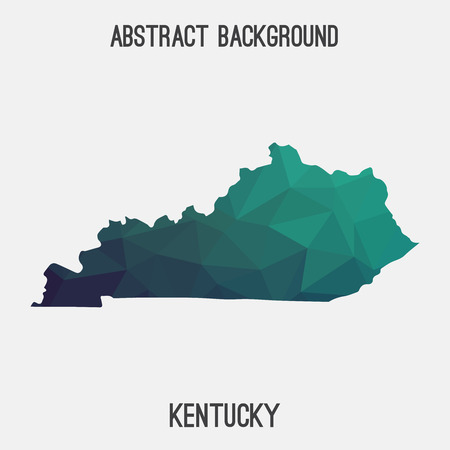 louisville: Kentucky map in geometric polygonal, mosaic style.Abstract tessellation, modern design background, low poly. illustration. Illustration