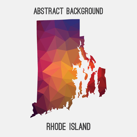 providence: Rhode Island map in geometric polygonal, mosaic style.Abstract tessellation, modern design background, low poly. illustration.
