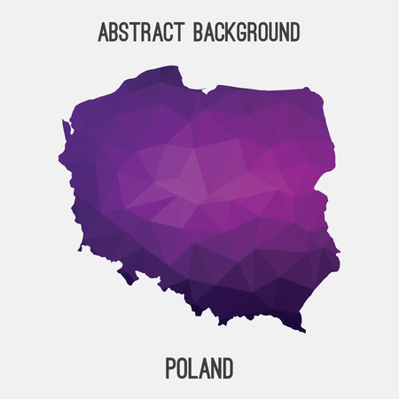 wroclaw: Poland map in geometric polygonal style.Abstract tessellation, modern design background.