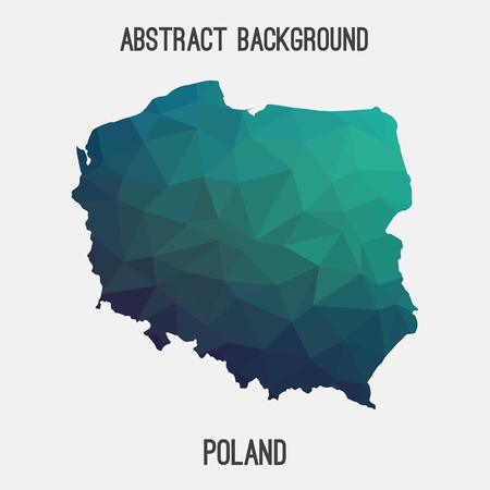 wroclaw: Poland map in geometric polygonal style.Abstract tessellation, modern design background. Vector illustration EPS8