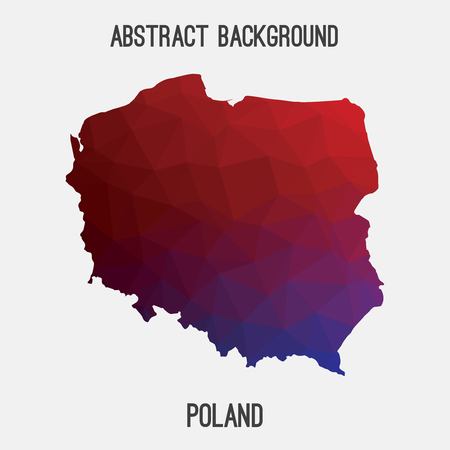 gdansk: Poland map in geometric polygonal style.Abstract tessellation, modern design background. Vector illustration EPS8