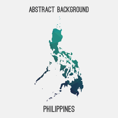 filipina: Philippines map in geometric polygonal, mosaic style.Abstract tessellation, modern design background, low poly.  illustration.