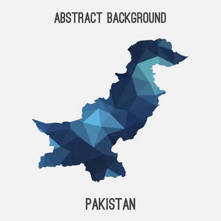 islamabad: Pakistan map in geometric polygonal style.Abstract tessellation, modern design background