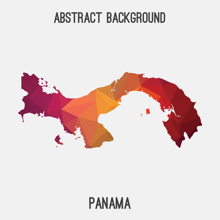 Panama map in geometric polygonal style.Abstract tessellation, modern design background.