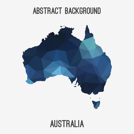 Australia map in geometric polygonal style.Abstract tessellation, modern design background. Vektorové ilustrace