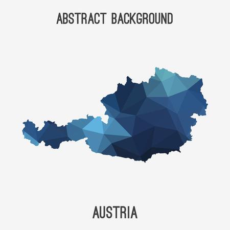 austria map: Austria map in geometric polygonal style.Abstract tessellation, modern design background Illustration