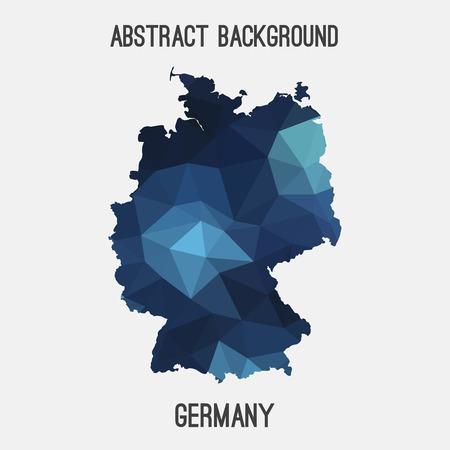deutschland: Germany, Deutschland map in geometric polygonal style.Abstract tessellation, modern design background. Illustration
